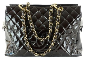 Chanel Grand Timeless Tote Quilted Leather Gold Hardware Shoulder Bag