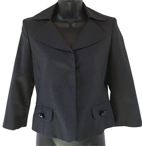 Anne Klein Lightweight Hidden Snaps black Jacket