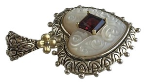 Barbara Bixby Sterling 18k Garnet and Mother of Pearl Heart