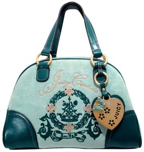 Juicy Couture Dome Velour Satchel in Green