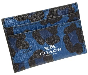 Coach Coach Flat Card Case in Ocelot Haircalf F64065 NEW WITH TAG