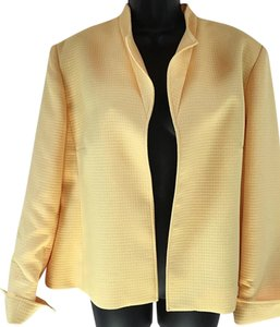 Louben Open-front Folded Sleeves Yellow Jacket