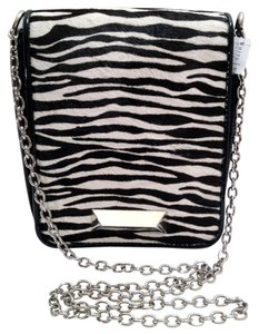 White House | Black Market Zebra Animal Print Faux Patent Shoulder Bag