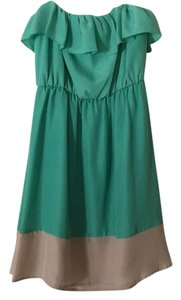 My Michelle short dress Green and beige on Tradesy