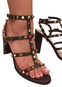 Valentino Rockstud Brown Pumps