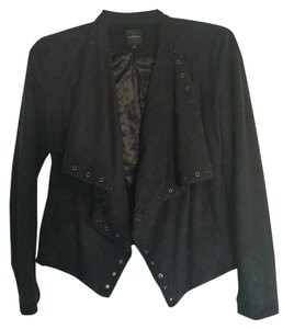 Express Velvet Jacket Formal Black Blazer