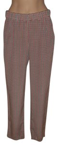 Equipment Silk Femme Houndstooth Straight Pants Multi-color