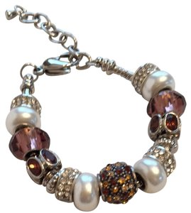 Other Charm Amber Brown Bead Bracelet