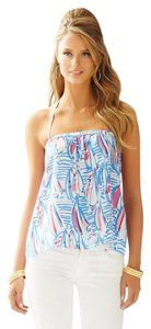 Lilly Pulitzer Red Right Return Lei Lei Lei Lei Boats Halter Top