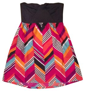 Roxy short dress Navy with multi color stripes on Tradesy