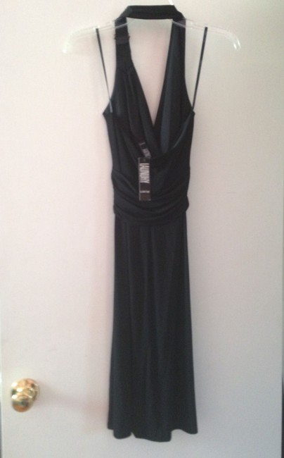 Laundry by Shelli Segal Leather Halter Buckle Dress
