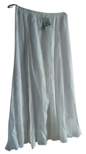 WD.NY Linen Summer Maxi Skirt Bright White