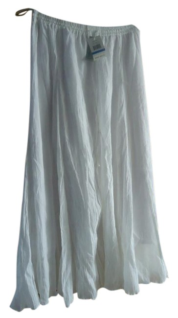 Item - Bright White Linen Fully Lined Skirt Size 16 (XL, Plus 0x)