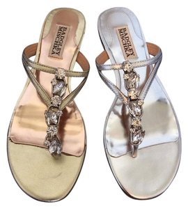 Badgley Mischka Silver and Gold Sandals