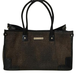 Calvin Klein Tote in Dark Brown W Black Trim