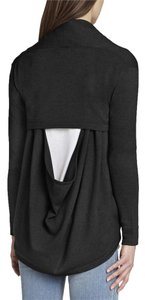 BCBGMAXAZRIA Cowl Wool Cotton Casual Cardigan