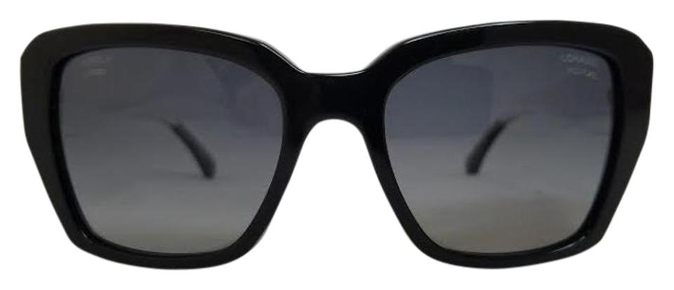 b72b363fbb0 Chanel Chanel Black and Clear Polarized Sunglasses 5263 C501 S8 Image 0 ...