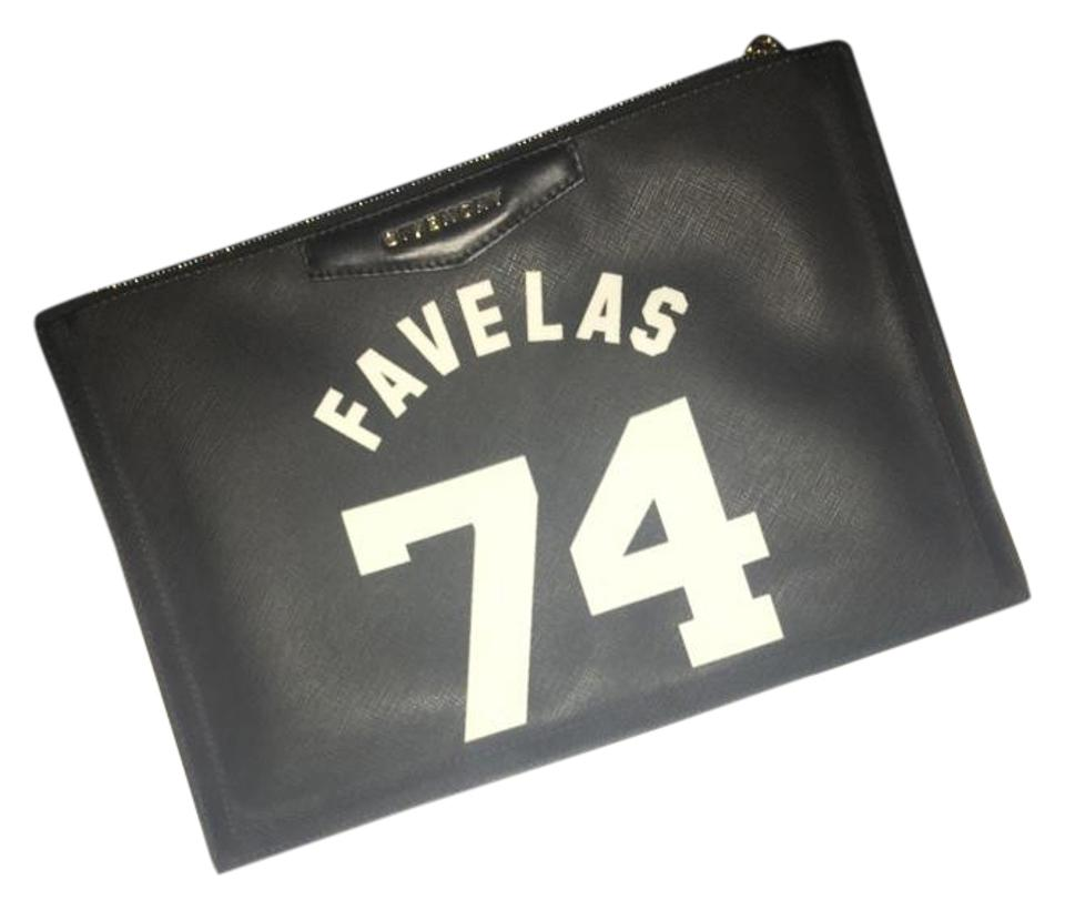 f191760e745 Givenchy Favelas 74 Antigona Medium Zip Pouch Black and White Canvas ...
