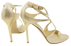 Jimmy Choo Stappy LIGHT GOLD METALLIC NUDE Sandals