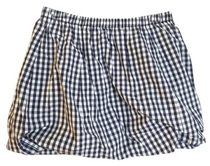 J.Crew Gingham Preppy Nautical Mini Skirt navy white blue