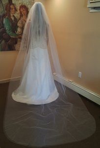 Bridal 2 Layer Cathedral Veil W/comb 622-5 Ivory