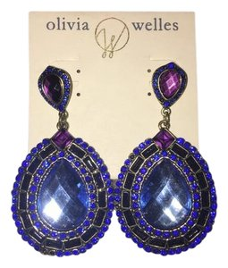 Olivia Welles Olivia Welles Blue Statement Earrings