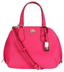 Coach F34940 Satchel in Pink Ruby