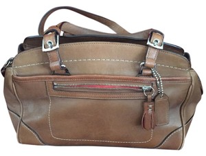 Coach Leather Satchel Tote in Camel