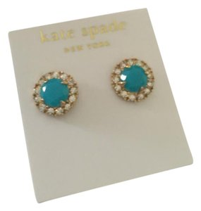 Kate Spade Gold plated,Secret Garden Stud Earrings
