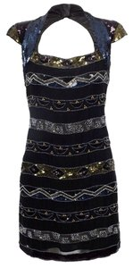 French Connection Sequin Beaded Cut-out Dress