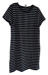Old Navy short dress Black/White Shirt Nwt Stripes on Tradesy