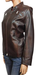 Caslon Brown Leather Jacket