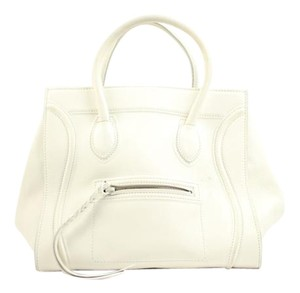 Céline Mini Luggage Phantom Luggage Satchel in White