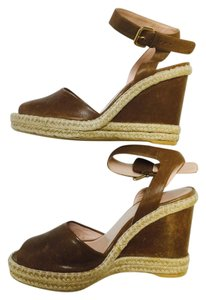 Stuart Weitzman Chocolote brown Wedges