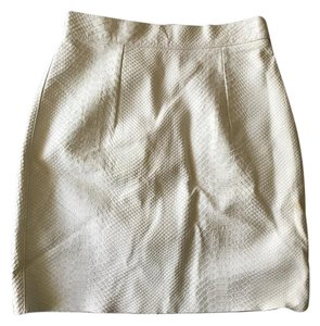American Apparel Mini Leather Mini Skirt White