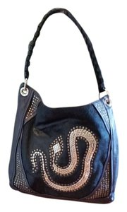 orYANY Leather Hair Studs Snake Design Shoulder Bag