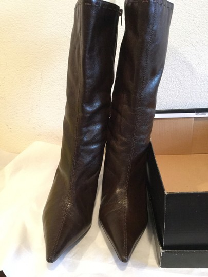 Jessica Simpson Nice Stitching Width Stretch Brown Boots