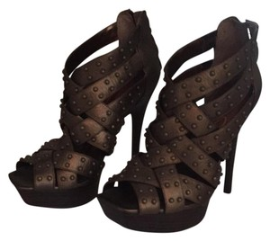 Jessica Simpson Bronze Platforms