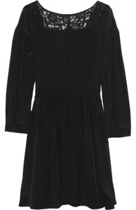 Miu Miu short dress Black Lace Trim Wrap Silk on Tradesy