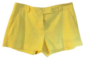 Theory Linen Short Shorts yellow