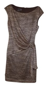 Muse short dress Brown/Gold on Tradesy