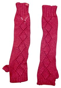 American Eagle Outfitters Long pink fingerless gloves