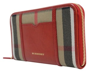 Burberry Burberry House Check Sartorial Large Ziggy Zip Around Wallet