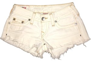 True Religion Bobby Cut-off Cut Off Shorts White Denim