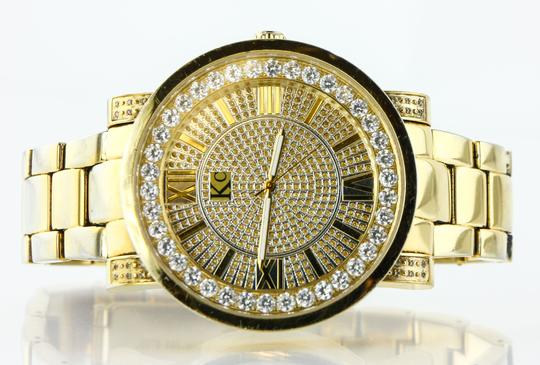 KC * KC Bling Out Dial Gold Tone Watch Image 7