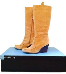 Relativity Suede Moccasin Tan Boots