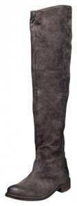 Nine West Suede Taupe Gray Boots