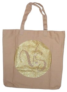 Victoria's Secret Beachbag Tote in Brown/Gold
