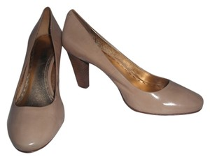 Coach Patent Leather Beige Pumps