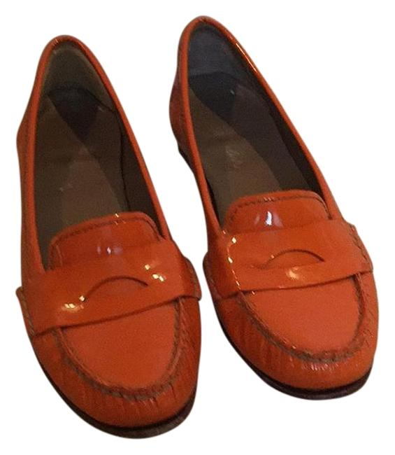 Item - Orange Nike Air Patent Leather Penny Loafers; Flats Size US 8 Regular (M, B)